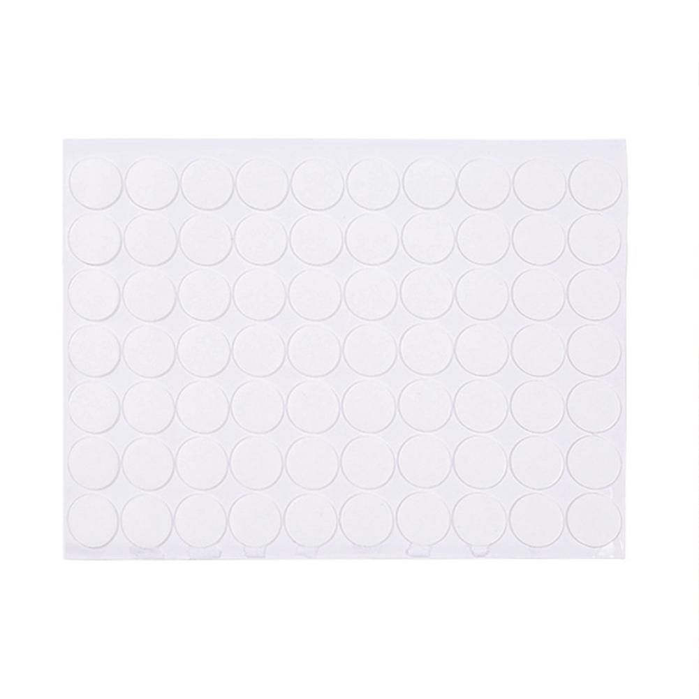 Acrylic round seamless transparent double-sided adhesive 70 pieces Creative strong waterproof small film stickers
