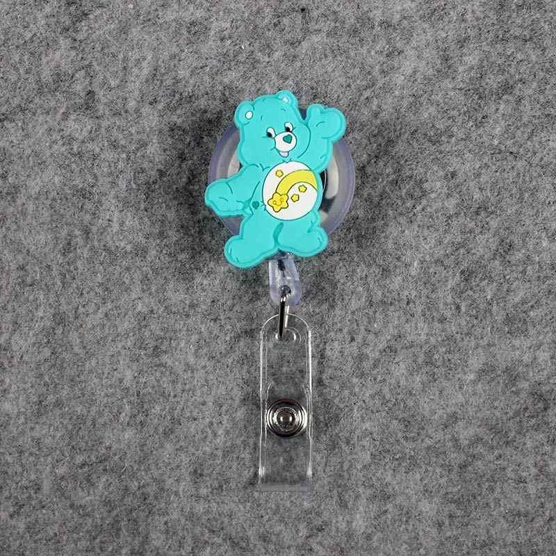 لطيف الألوان الدب مهرج قابل للسحب التمساح الدب الصغير شارة حمل البطائق بكرة ممرضة الفتيات معرض Enfermera اسم بطاقة الصدر