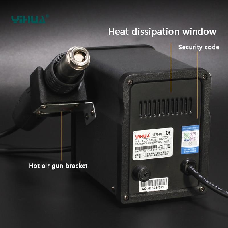 YIHUA 858D kuumaõhu SMD ümberehitusjaama soojuspüstol SMT - Keevitusseadmed - Foto 5