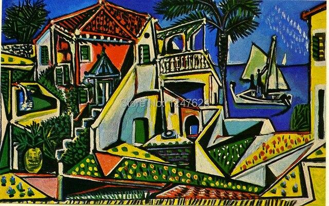 Pablo Picasso oil painting Mediterranean Landscape 1952