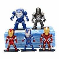 5pcs/set Hot Marvel 8 10cm Super Hero The Avengers action figure Toys Iron Man Thor Captain America Hulk thor toy