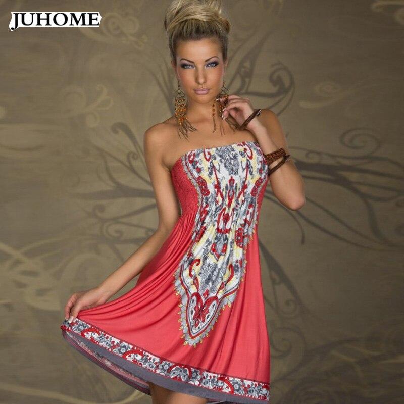 letní šaty bez ramínek sexy šaty ženy oblečení 2019 ledové mléko hedvábí pláž hippie boho tunika africké tisk šaty šaty župan