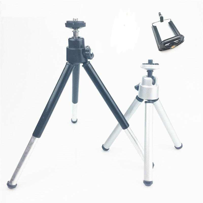 Mini Tripod For Camera Tripode For Iphone 6s 7 Xiaomi With Phone Clip Tripod Stand Mount For Nikon Gopro 5 4 Session Yi Camera