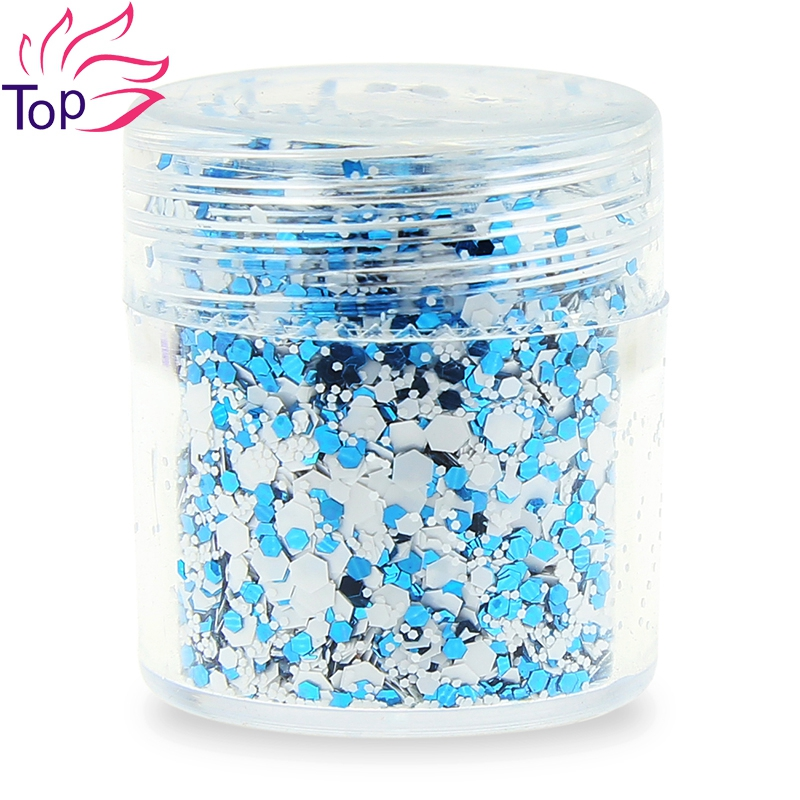 Octagon Design Nail Art Glitter Powder 4 Colors Sequins Dust Gem - Маникюр - фото 2