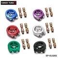 EPMAN-Oil Filter Cooler Adaptador Sandwich Plate (Azul, Roxo, Vermelho, Prata, verde, preto) EP-OL0202