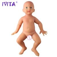 Оригинальный IVITA WG1518 50 см 4960g всего тела мягкие силиконовые возрождается реалистичные Синий глаза ребенка куклы реалистичные детские игруш