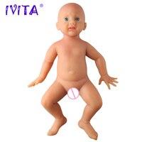Оригинал IVITA WG1518 50 см 4960 г полный корпус мягкий силиконовый Reborn реалистичные голубые глаза куклы реалистичные детские игрушки для девочек