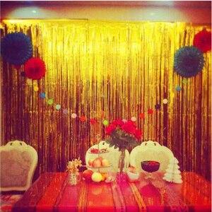 1*2 м Вечеринка занавеска Фотофон Фольга занавес дверь дождь Свадьба День рождения украшение Pull цветок свадьба фон 35