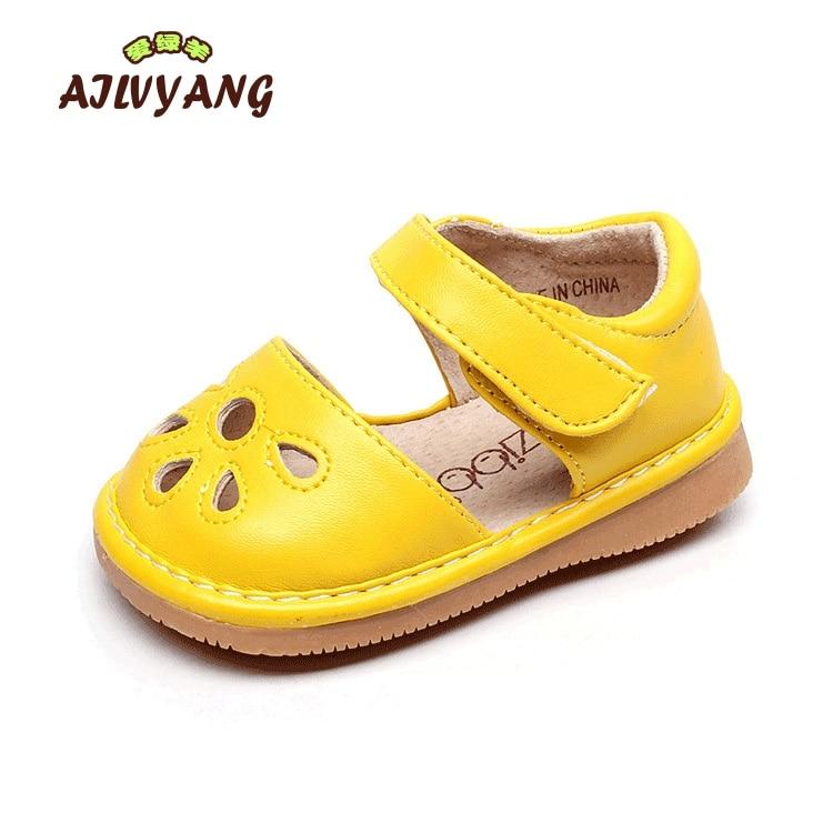 fc5d8621d Детские Обувь для девочек летние Брендовые босоножки малышей полые  принцесса первых шагов Обувь детей один удобные