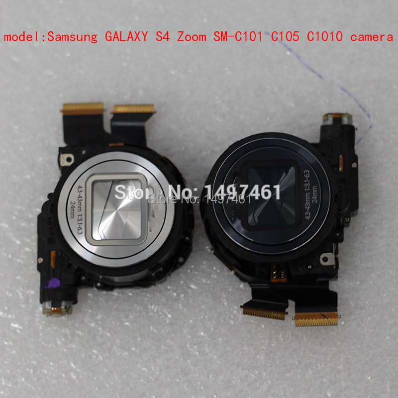 Silver/Blue Full New Optical Zoom Lens With CCD Repair Parts For Samsung GALAXY S4 Zoom SM-C101 SM-C105 C101 C105 Camera