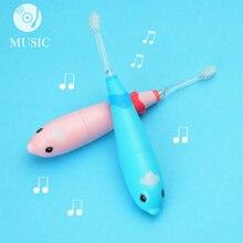Seago 3 6 jaar Kinderen elektrische tandenborstel hoge kwaliteit Dupont tanden borstel hoofd muziek tandenborstel sonic baby veilig gezond