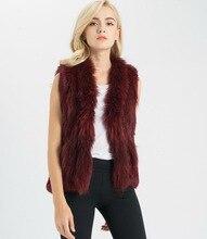 S1411 Lady Real fur gilet Or Genuine Rabbit Fur Vest  Women Winter New Coat