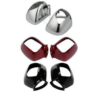 Motorcycle Chrome/Black/Red Side Rear Mirrors Case Cover For Honda GOLDWING GL1800 2001-2017