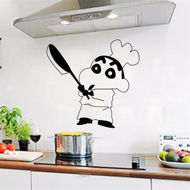 kitchen cooking chef wall sticker restaurant hotel windows glass decor home cabinet tile carved stickers fashion