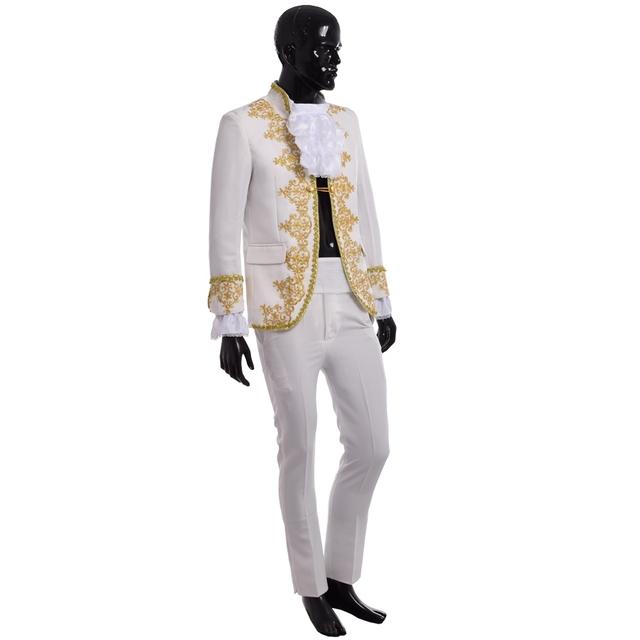 Príncipe de Vintage trajes fantasía corte real de barroco rococó europeo uniforme cosplay