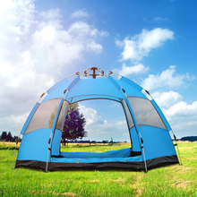 3-4 Person Sixth-Angle Tent Waterproof Automatic Camping Quick Open Outdoor Family Hiking Tourist