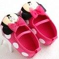 2016 a primavera eo verão de moda de nova meninas do bebê fundo macio dos desenhos animados impresso do bebê bowknot shallow lazer sapatos frete grátis