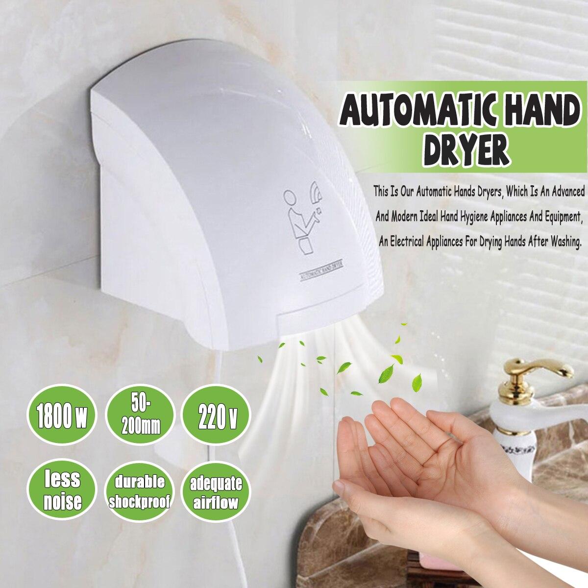 1800 w AU Main Sèche-Ménage Hôtel Automatique InductionInfared Capteur Muet Salle De Bains Toilettes Chaude Vent Main Séchage Machine