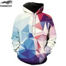 TUNSECHY Men/Women Hoodies With Hat Hoody Print Color Blocks