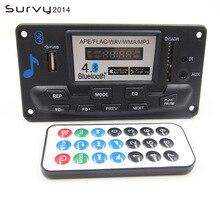 12V Bluetooth MP3 Decoding Board Module with LED DIY USB/SD/MMC APE FLAC WAV DAE Decoder Record MP3 Player AUX FM Folders Switch аудио для авто bluetooth car mp3 2015 bluetooth mp3 mp3 fm usb sd mmc