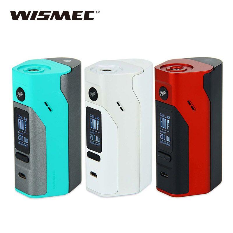 Originale Wismec Reuleaux RX2/3 TC 150 w/200 w Box Mod Aggiornabile Firmware Aggiornato Rx200 rx200s Reuleaux RX2 3 TC RX23 Vape MOD