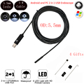 Mini 6 LEDs USB Endoscope Camera Inspection Camera Borescope 5.5MM Dia Waterproof Digital Inspection Snake Tube Camera 2M Cable