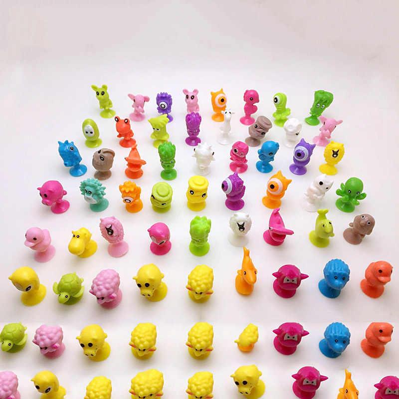 20 pçs/lote Mini Monstro Modelo Da Cápsula Otário Ventosa Brinquedos Dos Desenhos Animados Anime Figuras de Ação de Animais Para Crianças