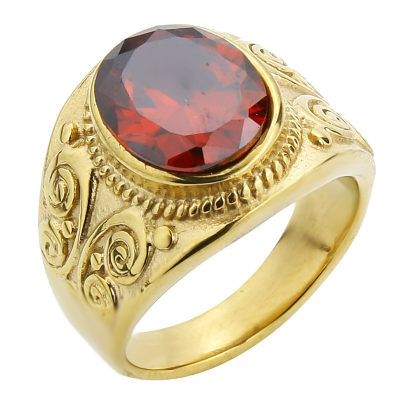 Gold-Red CZ