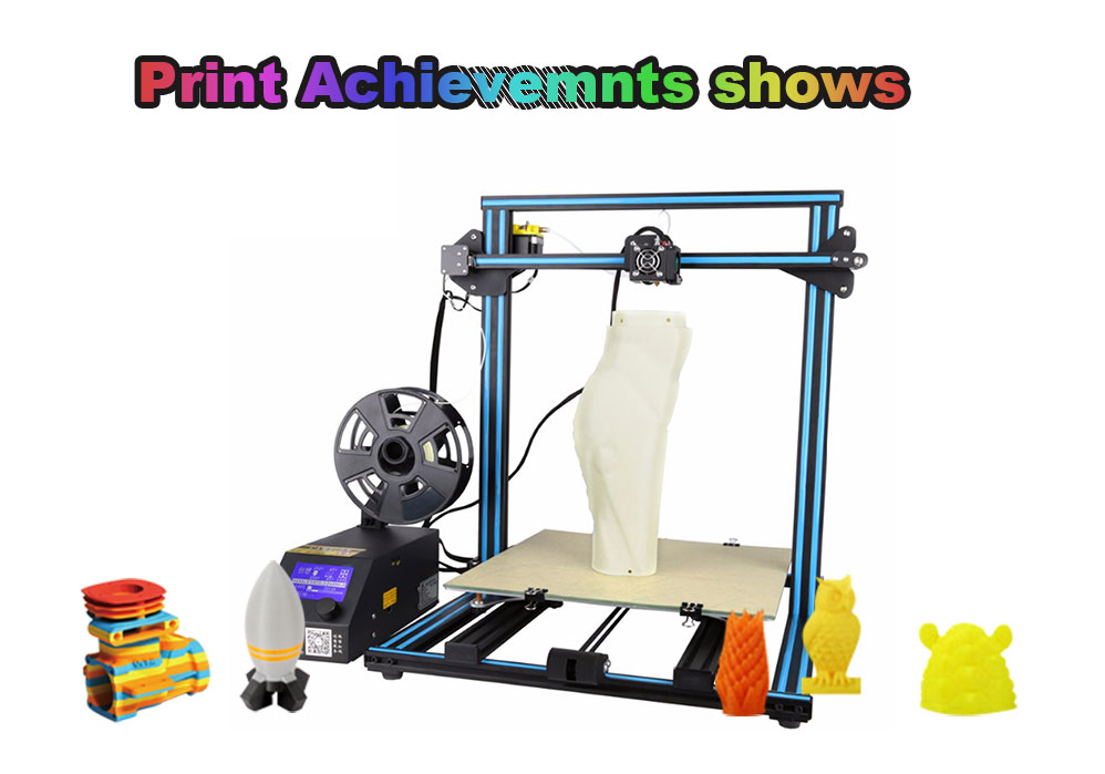 Free Shipping 2017 Creality CR-10-plus Large Printing Size DIY Desktop 3D Printer printing various Filament With Heated Bed