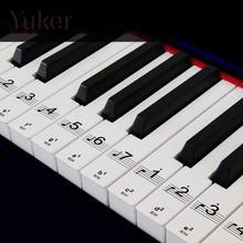 ФОТО piano keyboard electronic keyboard stickers decal label note learn biginners kid