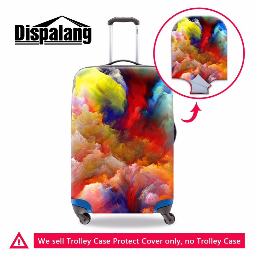 Dispalang Colorful luggage covers for girls elastic polyester spandex suitcase covers women travel accessories Luggage protector