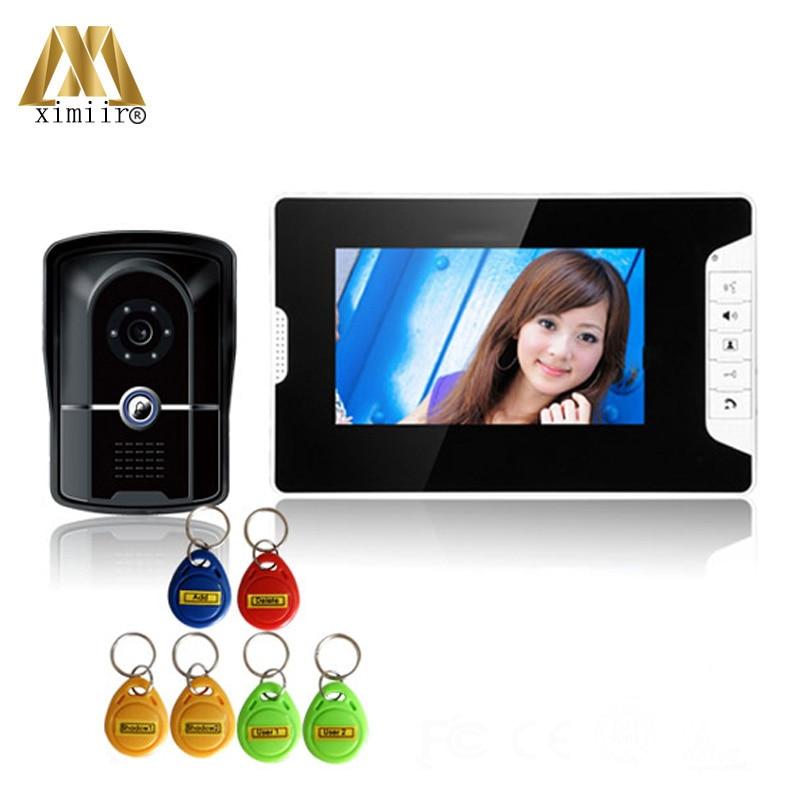 IP55 Waterproof Outdoor New Arrival 7 Color Video Door Phone Access Control Optional RFID Card Reader