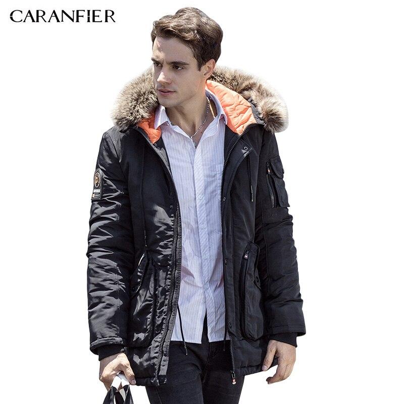 CARANFIER 2016 Winter Jacket Men Fashion Design Brand Parka Men Clothing Zipper Coat Male With Pockets Plus Size M-3XL