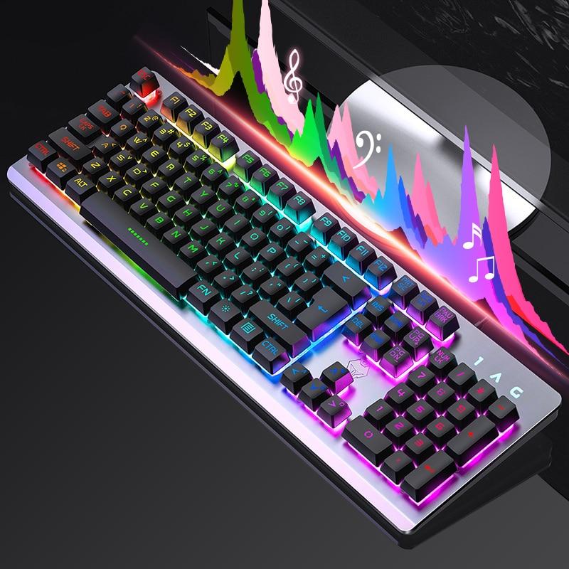 NoEnName_Null Hot Sale English Backlight Gaming Keyboard Wired Teclado Gamer Floating LED Backlit USB Similar Mechanical Feel цена