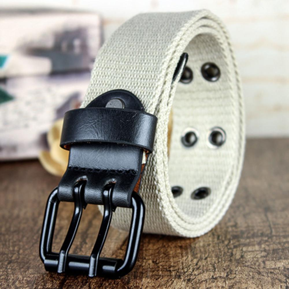 CUKUP New Unisex Thickened Weaves Canvas Leisure Belt Double Pins Buckles Metal Belts Many Color Options Accessories CBCK124 in Men 39 s Belts from Apparel Accessories