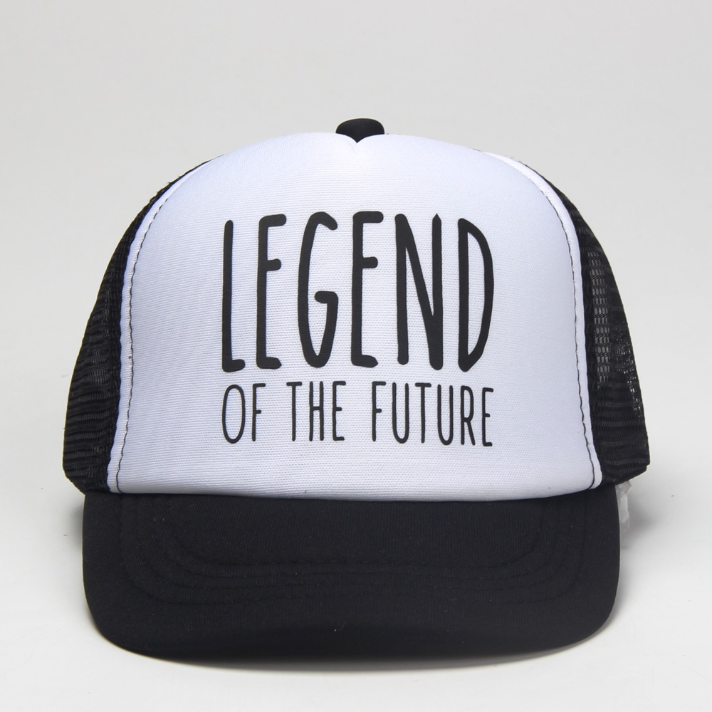92d04311 DongKing Kids Trucker Hat LEGEND OF THE FUTURE Print Girl Boy Baby Son Baseball  Caps Top Quality Snapback Funny Summer Gift-in Baseball Caps from Apparel  ...