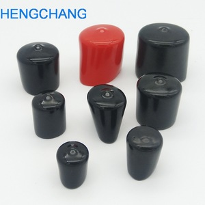 Image 3 - 14mm 30mm Rubber cover End cap PVC Plastic Cable wire thread cover vinyl End cap PVC rubber steel pole tube pipe protect 50pcs