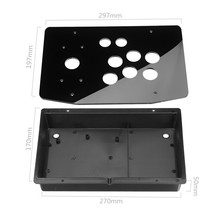 5mm DIY Clear Black Acrylic Panel Case Sturdy Construction Arcade Joystick Replacement Handle Arcade Game Kit Easy to Install