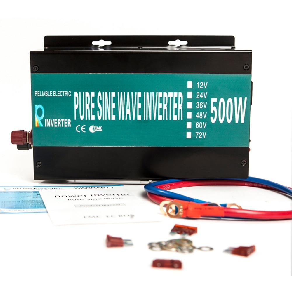 ФОТО LED Display Off Grid Power Inverter 500W 12V/24V/48VDC to 110V/220VAC Solar System Pure Sine Wave Power Supply Power Generator