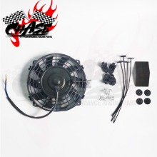 """Универсальный """" моторный радиатор двигателя масляный охладитель охлаждения электрический вытяжной вентилятор Радиатор Вентилятор охлаждения двигателя 12 в 80 Вт"""