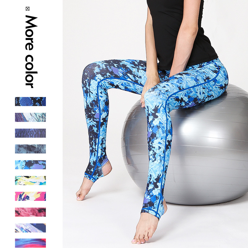 Camouflage Sports Pants Stretch bottom compression pants fitness running marathon tights quick-drying breathable trousers