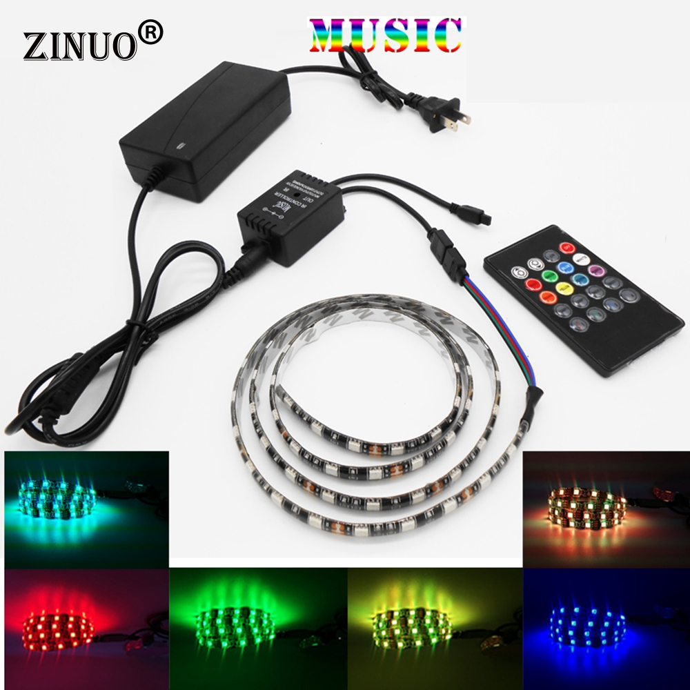Led Strip Led Music Controller Music Sound Sensor Control For Home Patry RGB 3528  5050 With 20key Remote Battery