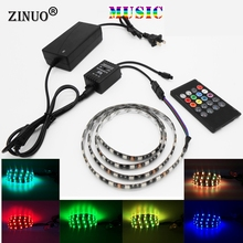 цена на ZINUO music led controller with 20key remote battery music sound sensor control for home patry RGB 3528  5050 led strip