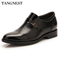 Tangnest Men S Shoes For Business 2017 New Spring PU Leather Dress Shoes Man Slip On