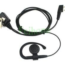 2-контактный микрофон PTT Динамик гарнитуры для иди и болтай Walkie Talkie Baofeng Kenwood, WOUXUN, Puxing Quansheng LINTON TYT двухстороннее радио