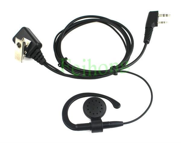 2 PIN PTT MIC Earpiece Headset For Walkie Talkie Baofeng KENWOOD WOUXUN PUXING QUANSHENG LINTON TYT TWO Way Radio