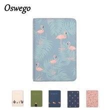 OSWEGO Cute Printing Women Passport Holder PU Leather Card holder Travel Passport