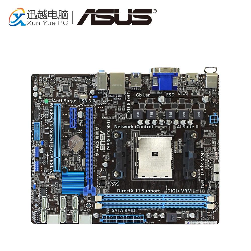Asus A85XM-A Desktop Motherboard A85X Socket FM2 DDR3 32G SATA3 USB3.0 Micro ATX цена и фото