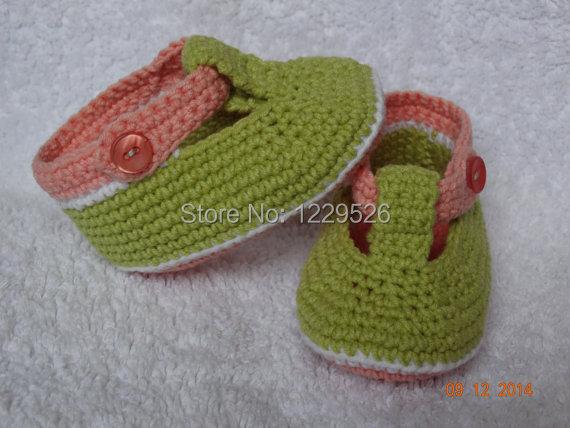 Håndlavede babysko Hæklede babysko, håndlavede støvler