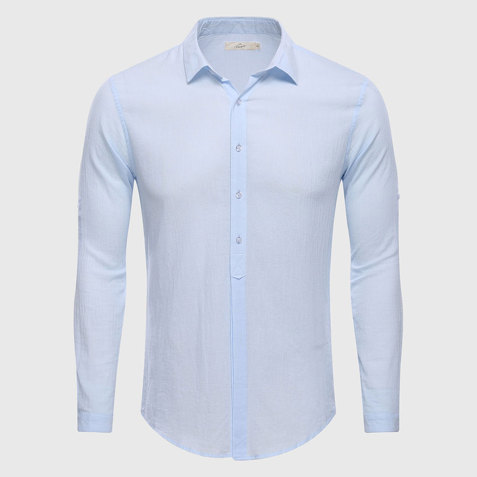 Cotton linen casual shirt hawaii aloha solid summer slim for Mens slim hawaiian shirt